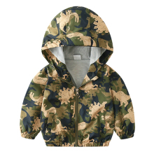 Camouflage Dinosaur Children Coat Baby boy jacket  Autumn Ki