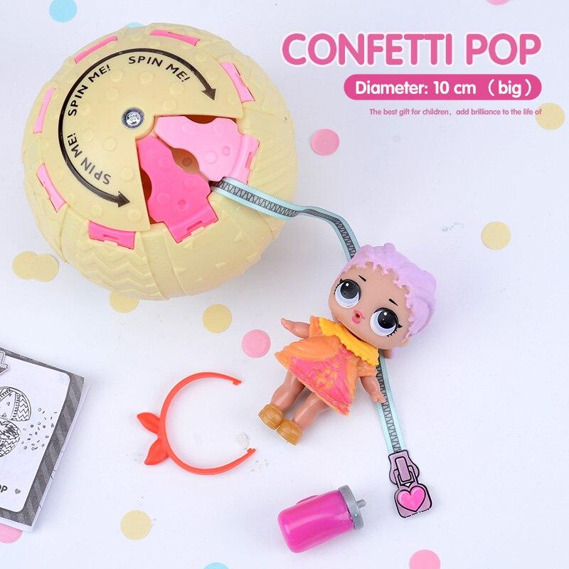 Promo Confetti Pop 10cm Big Lol Doll In Balls 3 Series Egg Toys For