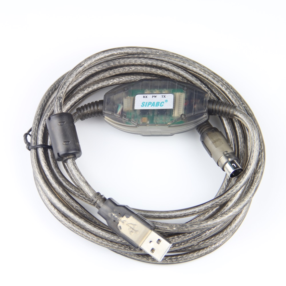 все цены на Free Shipping Enhanced USB-QC30R2 Programming Cable for Q series PLC GT1020 GT1030 Optical Isolation онлайн