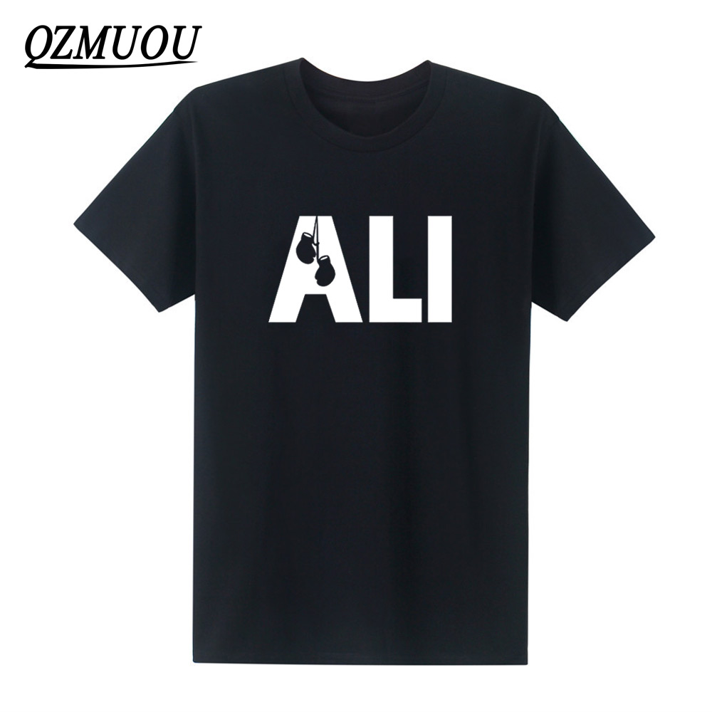 2019 New Fashion Men Summer T-särgid MUHAMMAD ALI Trükitud kammitud - Meeste riided