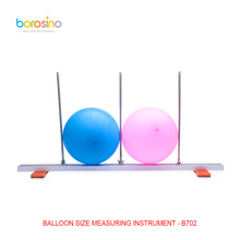B702 free shipping free foldable balloon measuring sizer for wedding decoration