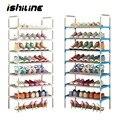 Многофункциональные стеллажи для обуви 2-7 ярусов, большие штабелируемые полки, полка для обуви, книжный Органайзер Домашний для хранения