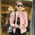 Женщины мода зимой и весной тонкий короткий участок выращивания пиджаки хлопка-ватник теплая куртка и пиджаки C002