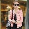 Mulheres jaqueta de inverno e primavera fino curto de cultivar casacos de algodão acolchoado casaco quente Outwear C002