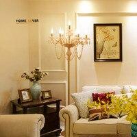 Современные хрустальные Торшеры для гостиной Спальня столовая Кухня Lampara де пирог e14 лампы дизайнер люстры торшеры