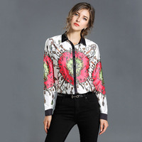 Vintage Fashion Women Blouses 2018 Floral Print Ladies Tops Long Sleeve Shirt Dropshipping XCN3052