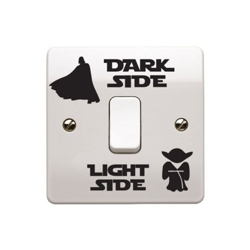 Creative Wall Star Wars Dark Light Side Vinyl Switch Sticker A0003