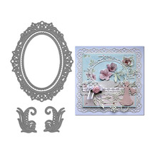 Decor Oval Lace Frame Metal Cutting Dies for Scrapbooking New 2019 Craft Cuts Card Making Stencil Stitch Troqueles