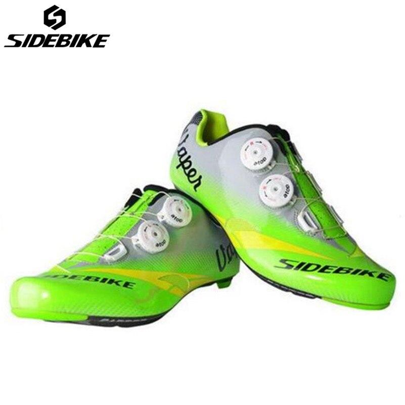 SIDEBIKE chaussures de vélo de route équitation chaussures de cyclisme route carbone respirant chaussures de vélo baskets de Cycle Zapatillas Zapato Ciclismo