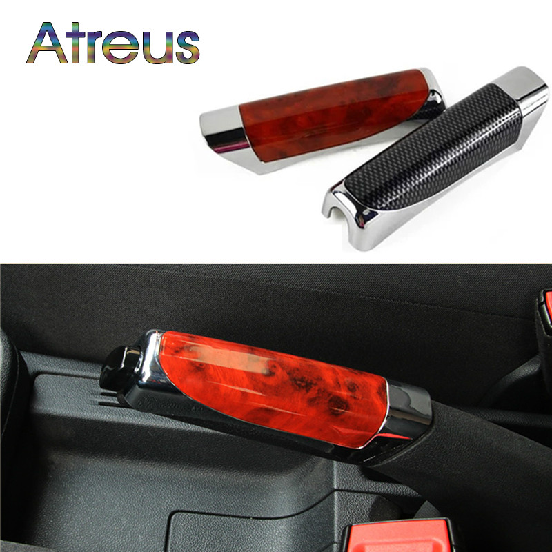 2 Colour Car Handbrake Protector Cover Decoration For Abarth Fiat BMW E60 E36 E34 E90 F30 F10 F20 Mercedes Benz W203 W204