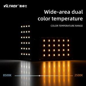 Image 4 - Viltrox RB08 Bi Kleur 2500K 8500K Mini Video Led Light Draagbare Vullen Licht Ingebouwde batterij Voor Telefoon Camera Schieten Studio