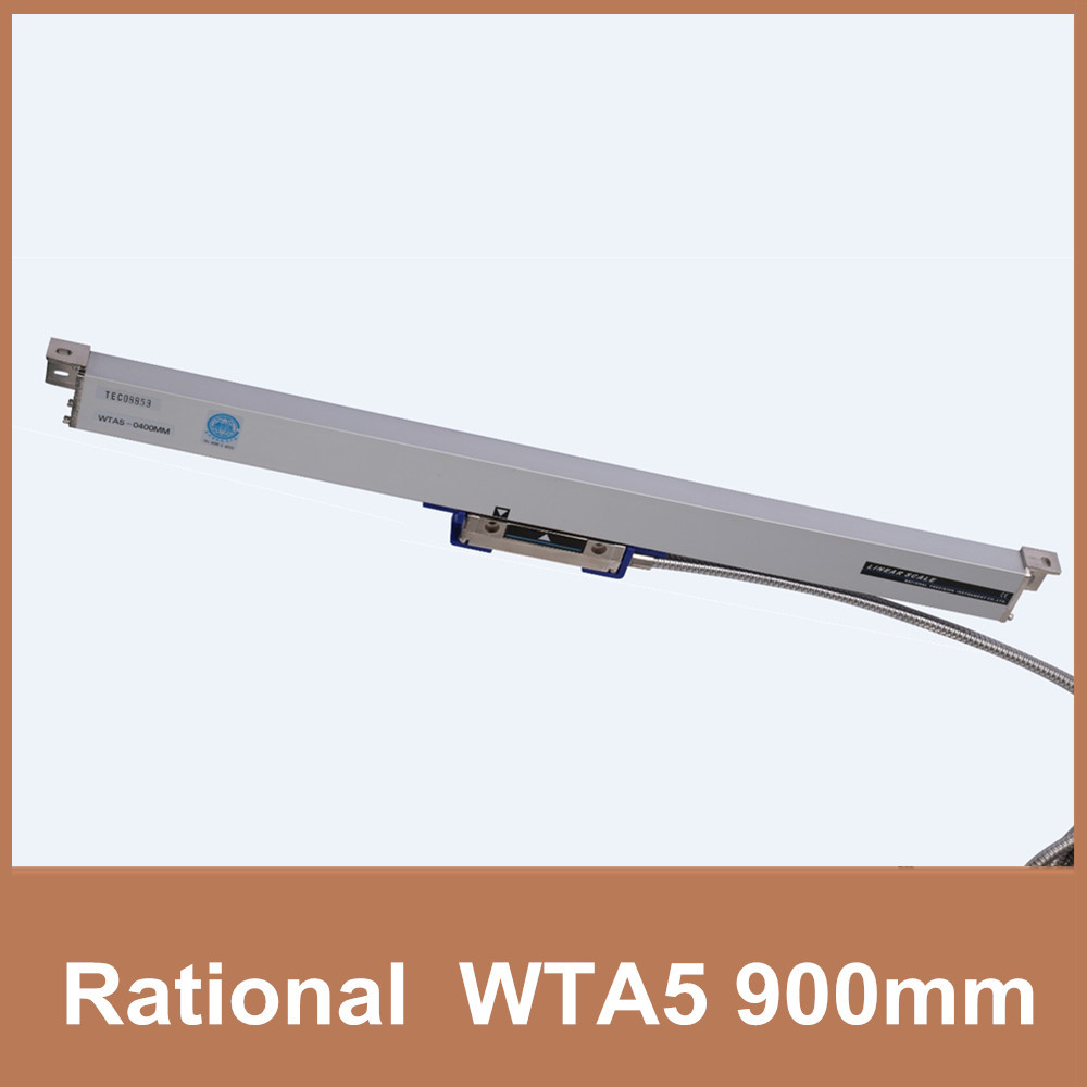 Free Shipping Rational glass scale encoder WTA5 5um 900mm TTL 5V 0.005mm linear system scale for drilling machine linear stepper free shipping high precision easson gs11 linear wire encoder 850mm 1micron optical linear scale for milling machine cnc