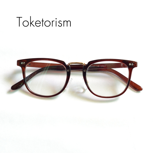 78676643d1 Toketorism Vintage glasses frame clear lens metal bridge classic eyeglasses  for men and women 8892