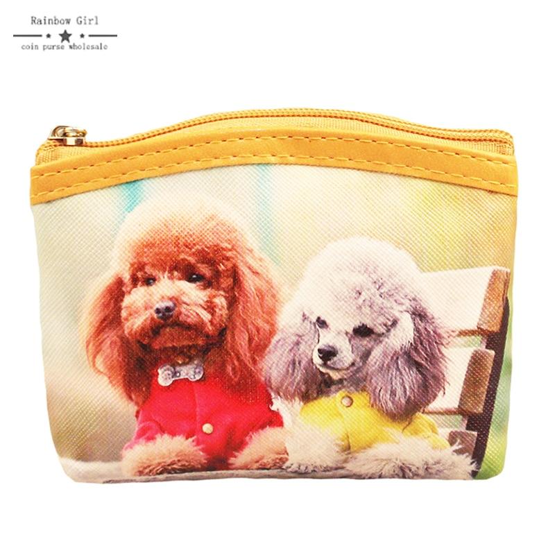 New Dog Coin Purse Cute Style Novelty Animals Zipper Change Purse Kawaii Wallet for Children Women's Wallet Business Card Holder