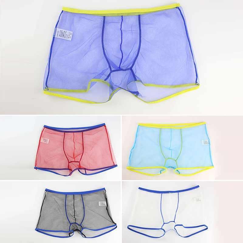d7569868077c ... Hot Sale Sexy Men Child Mesh Boxers Transparent Boxer Shorts See  Through Underwear z1 ...