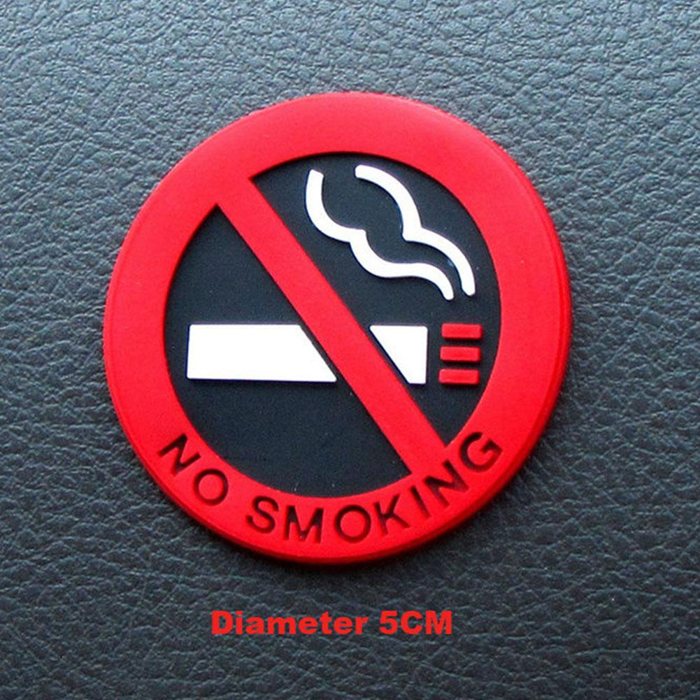 Universal No Smoking Car Stickers Styling Round Red Sign Vinyl Sticker