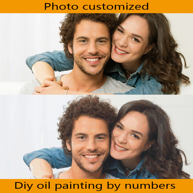 Frameless Photo Customized DIY Painting By Numbers Unique Gift For