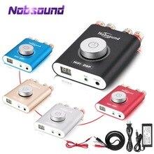 Nobsound Hifi NS 20G Mini Bluetooth 5.0 TPA3116 Điện Kỹ Thuật Số Khuếch Đại HiFi DSP Stereo Headphone Amp 100W + 100W kèm Adapter