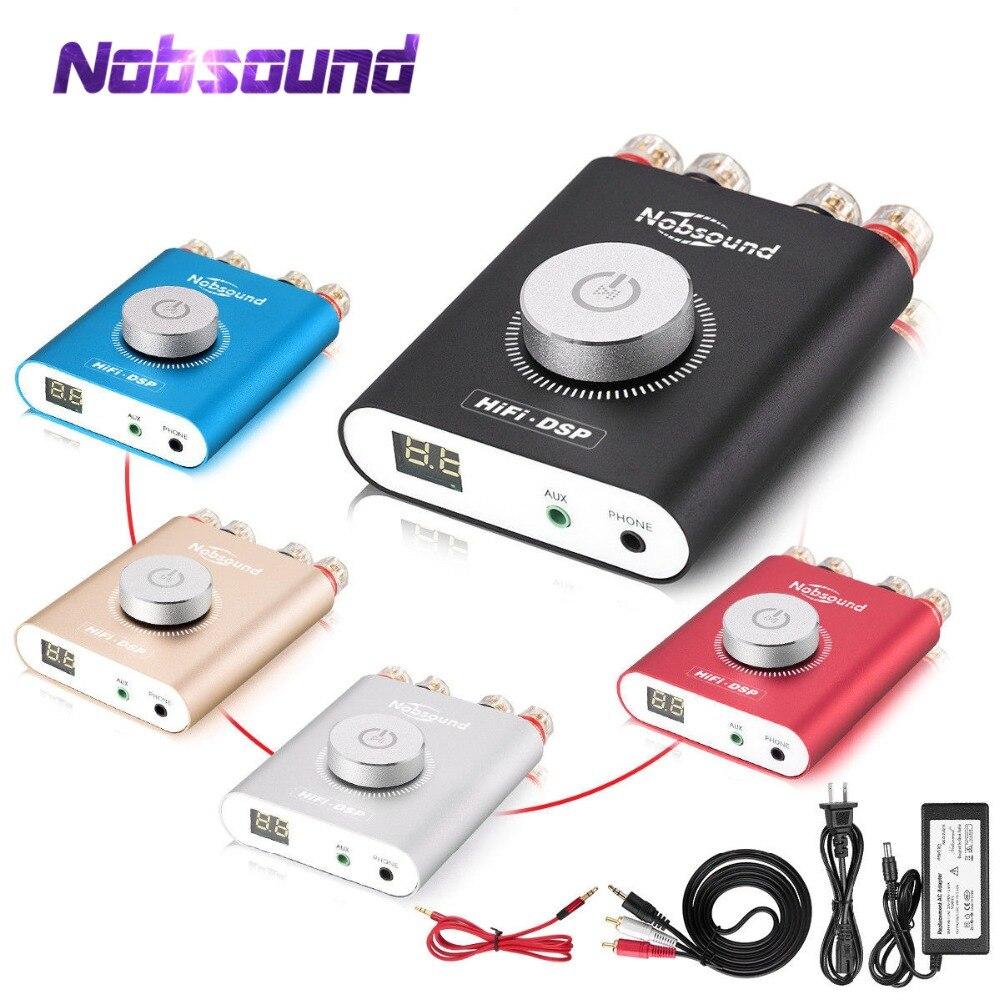 Nobsound alta fidelidade NS-20G mini bluetooth 5.0 tpa3116 amplificador de potência digital alta fidelidade dsp estéreo fone de ouvido amp 100 w + 100 com adaptador