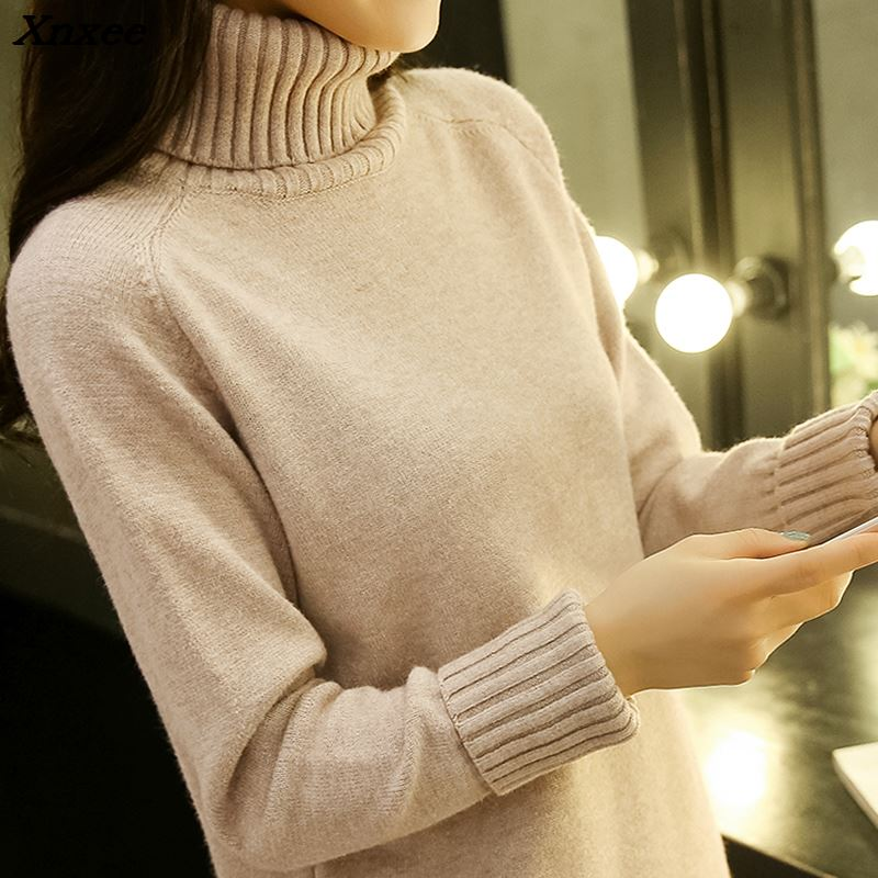 turtlenecks women 39 s pullover korean sweater female winter top women winter round neck sweaters Pullover sweater for women sweter in Pullovers from Women 39 s Clothing