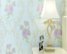 beibehang papel de parede European pastoral stereo small Suihua non-woven embossed wallpaper 4d fine flowers behang tapety