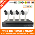 2016 4ch Full Hd 1080p H.264 Network Video Recorder + 4pcs Outdoor Wifi Wireless 1280*960p Ip Camera Security Surveillance Kit