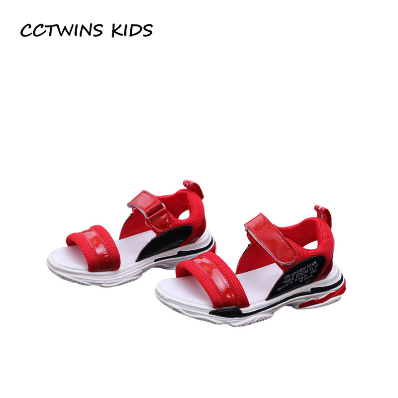 CCTWINS KIDS 2018 Summer Girl Fashion Genuine Leather Flat Children Sport Soft Shoe Baby Boy Brand Beach Sandal BB360