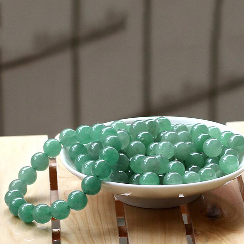 yu xin yuan fashion natural 10mm dong ling jade round beads charm trendy jade bracelets bangles women and men party jewelry in Bracelets Bangles from Jewelry Accessories