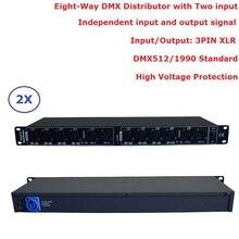 2 шт./лот DHL/FedEx доставка dmx512 сплиттер световой сигнал Усилители домашние сплиттер восемь способ DMX Дистрибьютор для перемещения головы свет