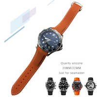 20mm 22mm High Quality Watchband Silicone Rubber Watch Strap Curved End Sports Special for Omega Seamaster Watch for men