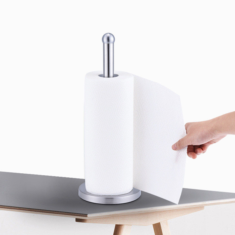 Stainless Steel Kitchen Roll Paper Towel Holder Bathroom Tissue Toilet Paper Stand Napkins Rack Home Table Accessories