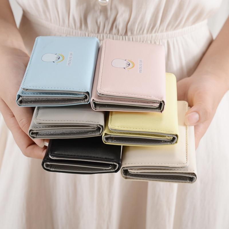 Penguin Prints Women Wallet Cute Fashion Short Women\'s Purse ...