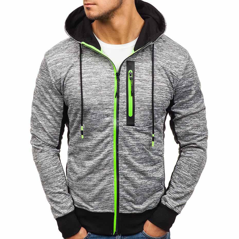 Zogaa Hot Sale Men Running Jacket Spring Autumn Zipper Solid Cardigan Coat Sport Fitness Causal Male Hip Hop Jacket Plus Size in Hoodies amp Sweatshirts from Men 39 s Clothing
