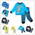 2016 одежда для девочек baby дети мальчики детская одежда устанавливает костюмы пижамы для мальчиков 2 шт. пижамы главная прекрасный