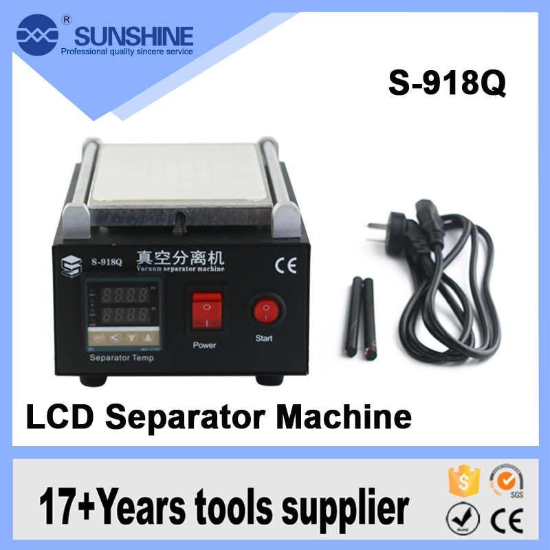 2017 new S-918Q 8 inches Wholesale portable automatic heat screen repair machine kit lcd separator with built-in air pump built in air vacuum pump ko semi automatic lcd separator machine for separating assembly split lcd ts ouch screen glas