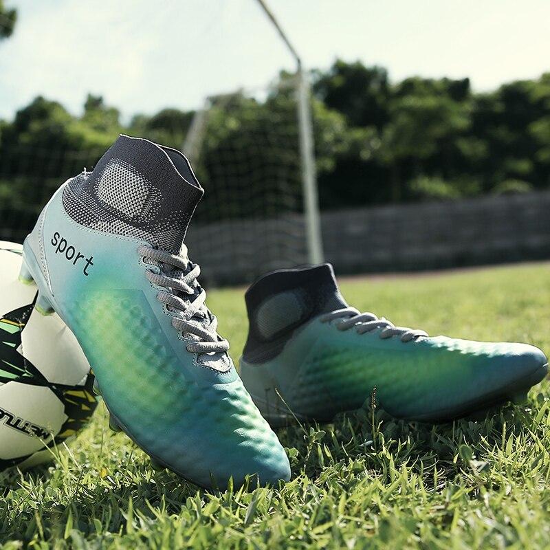 Hommes En Plein Air Ongles Cassés chaussures de football Longues Pointes Crampons de Football pour Adultes et Enfants Date bottes de formation de football