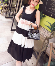 New 2015 maternity dresses sleeveless maternity clothes women summer dress