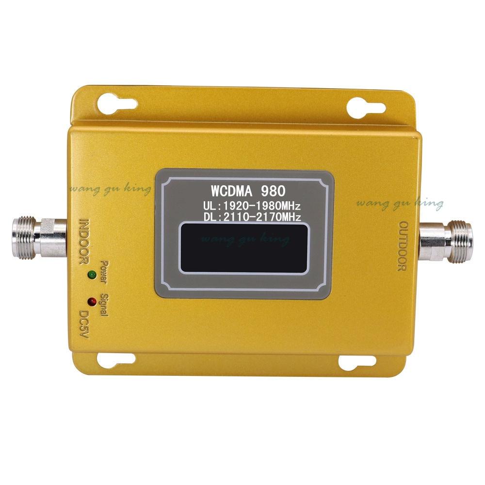 Ensemble complet LCD 3G UMTS WCDMA 2100 Mhz répéteur téléphone Mobile 3G amplificateur de Signal WCDMA amplificateur de répéteur de Signal + antennes 13db Yagi - 3
