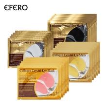 20Pairs EFERO 24K zlatna maska Collagen Eye Mask Očiju zakrpe za oči Anti Dark Circle Puffiness Bag za oči Wrinkle Face Skin Care