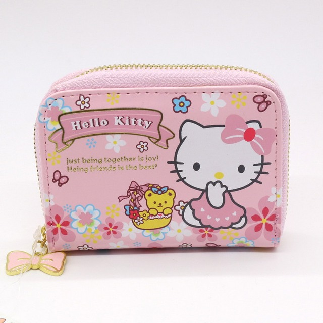Hello kitty candy business card holder women zipper wallet high hello kitty candy business card holder women zipper wallet high quality pu pink name card case reheart Images