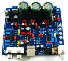 CS8416 CS4398 DAC DIY Kit с USB Коаксиальный 24/192 К декодер Комплект AC15V 32 К-192 К/24BIT