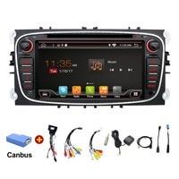 2 din 자동차 라디오 gps 안드로이드 6.0 자동차 DVD 포드 포커스 2 몬데오 C-최대 최대 갤럭시