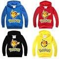 2016 Camisola Nova Pokemon Ir Hoodies Para A Primavera Menino & Pikachu Dos Desenhos Animados outono Crianças Casaco Para Meninos E Meninas 3-9 ano