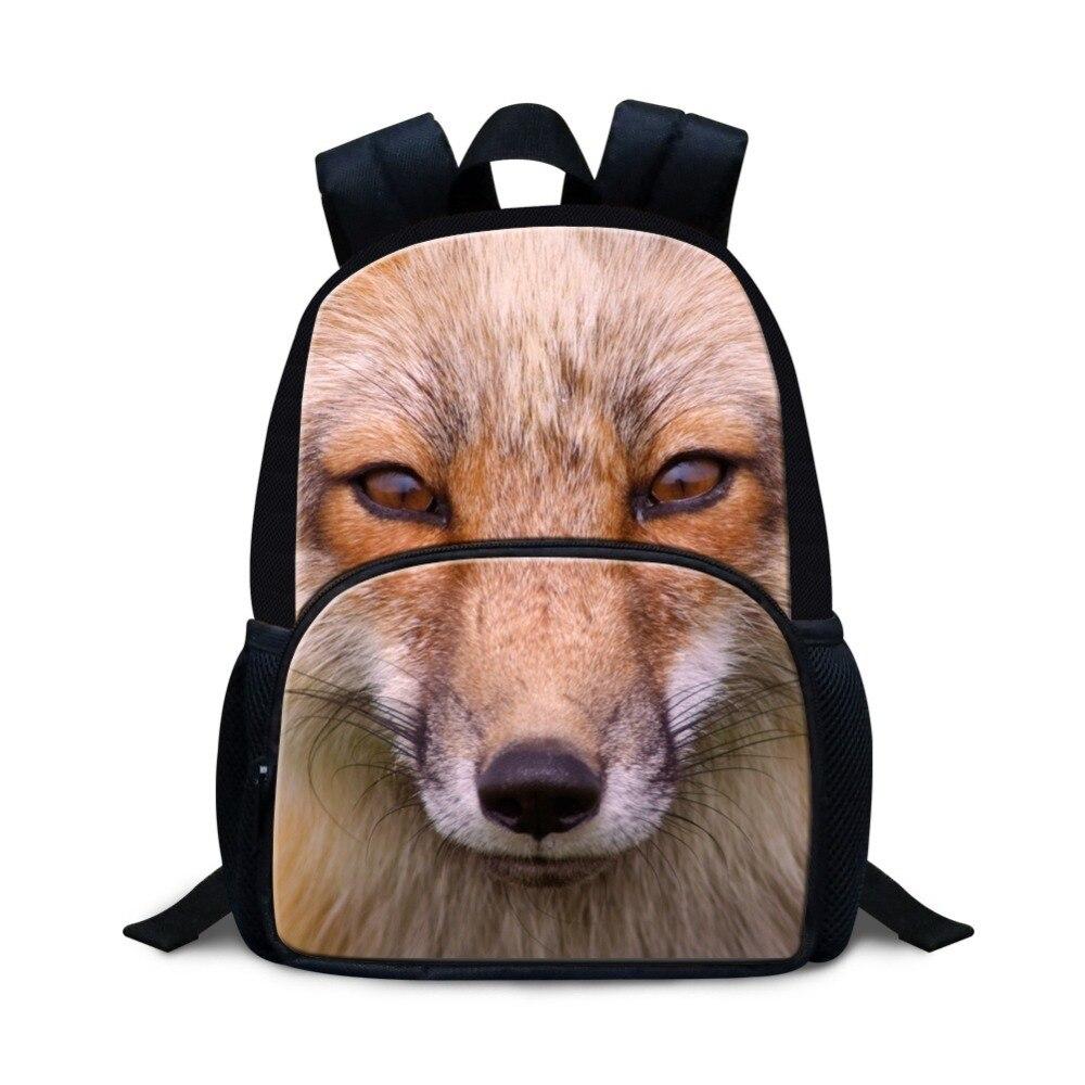Fox Printed School Backpacks for kindergarten Girls Cool Preschool Bags for Little Boys Small Bookbag Kids Lightweight Back Pack