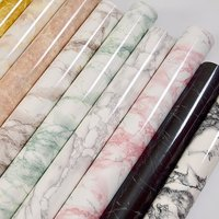 3M 5M 10M Marble Stickers Waterproof PVC Self Adhesive Wallpaper For Kitchen Cupboard Countertop Table Wall