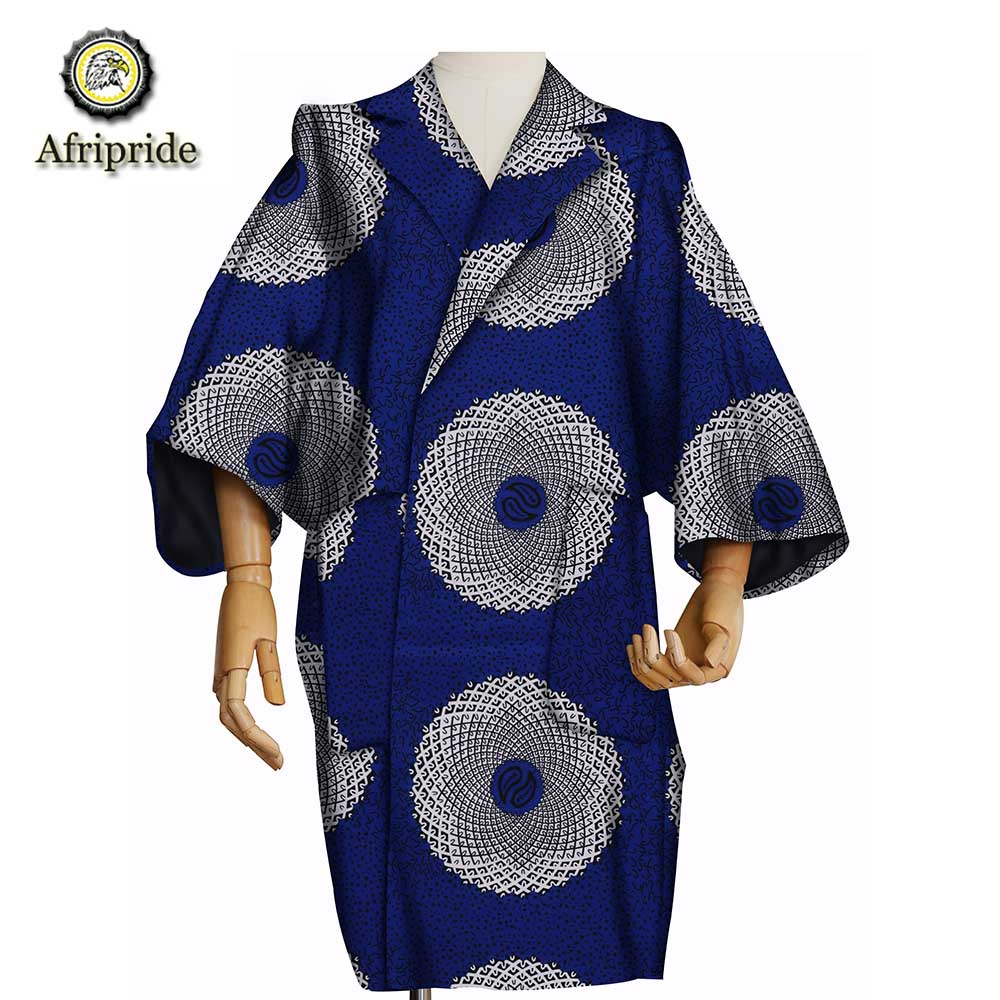 2019 african clothes for women AFRIPRIDE dashiki bazin riche ankara print private custom pure cotton 100 batik S1824008 in Trench from Women 39 s Clothing