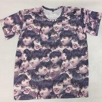 Kpop BTS Bantan Boys JUNGKOOK The Same Magic Expression Pack Summer Couple Short Sleeve Tshirt