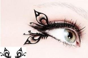 Free Shipping Fashion Lady Black Eyeliner Natural Double Eyelid Eye Shadow Stickers Club Hot Eyeliners