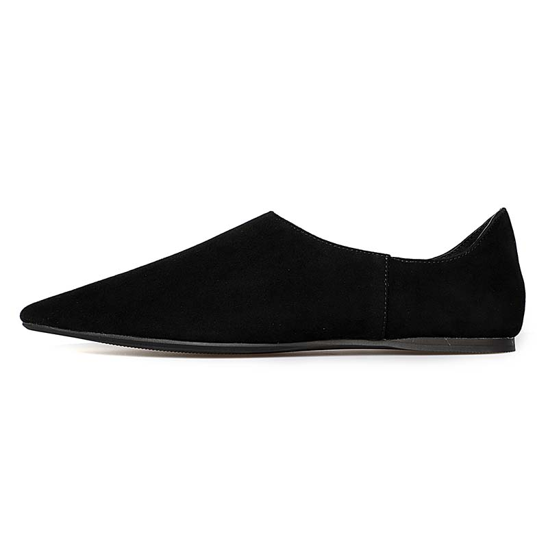 Ballet Flats Shoes Women Fashion Pointed Toe Woman Loafers Shoes  Kid Suede Vamp Solid Color Slip-On  Size 35-40 Model A-666 new fashion woman flats spring summer women shoes top quality strappy women sandals suede pointed toe gladiator ballet pumps
