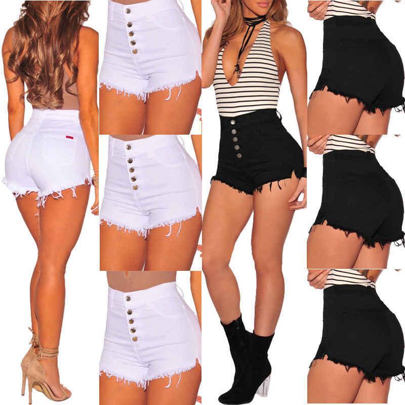 Thefound zgrywanie dziewczyna gorąca krótkie spodnie letnie spodenki jeansowe wysokiej talii jeansowe damskie plażowe plaża sportowe krótkie spodnie biały czarny
